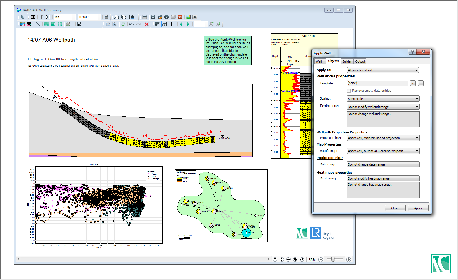 LR IC geology module screenshot
