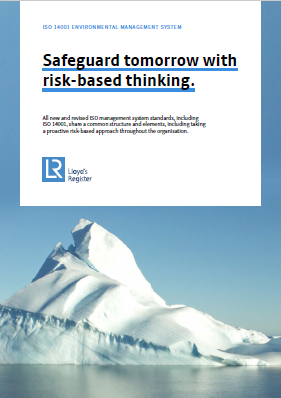 Safeguard tomorrow with risk-based thinking.
