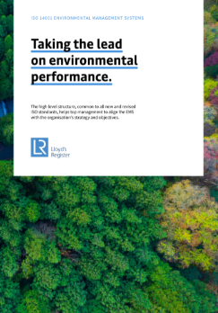 Taking the lead on environmental performance